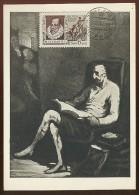 CARTE MAXIMUM CM Card USSR RUSSIA Literature Spain Cervantes Don Quichotte Horse Painting Domje - 1923-1991 URSS