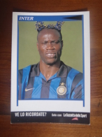 Taribo West Football Player Carte Postale - Fútbol