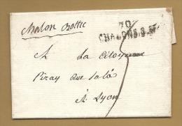 TRES BELLE LETTRE écrite Le 4 Primaire An 3 De La République - Chalon Bottle - 70 Chalons Sur Saone - Postmark Collection (Covers)