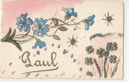 PRENOM  )) PAUL   Carte Peinte - Nombres