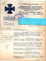 LETTRE (A.F.N.)DE LA FEDERATION NATIONALE DES COMBATTANTS VOLONTAIRES-1959 - Sin Clasificación