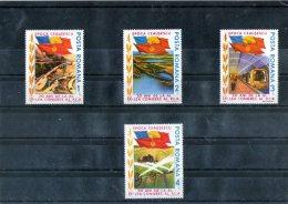 1985 - Age Ceausescu Mi 4165/4168 Et Yv 3593/3596 MNH - 1948-.... Republiken
