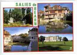 Salies De Béarn : Fontaine Du Parc Vieille Maison Et Pont Sur Le Saleys - Le Golf - N° K477 Multivues - Salies De Bearn