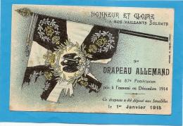 HONNEUR ET GLOIRE A NOS VAILLANTS SOLDATS - 9e DRAPEAU ALLEMAND DU 87e POMERANIEN ... - état Voir Descriptif - Unclassified