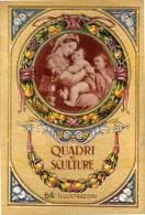Magnifique Carnet Relief Colooré Avec Dépliant Photos - Quadri E Sculture (64 Illustrazioni) (VP651) - Autres Collections