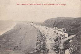 Carte Postale Donville Les Bains Vue Générale De La Plage Manche 50 - France