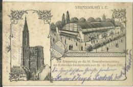 67 CPA Strasbourg Souvenir De L Assemblée Generale Congres Des Catholiques D Allemagne 1905 General Versammlung - Strasbourg