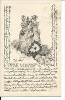 AUG162 - CARTOLINA BUON ANNO - MAIALINI QUADRIFOGLIO - FORMATO PICCOLO  - VIAGGIATA AUSTRIA - 1901 - New Year
