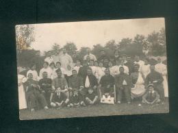 Carte Photo - Lamagistère (82) ( Groupe De Blessés Guerre 1914-1918 Soeurs De La Charité Hôpital Militaire Provisoire ) - France