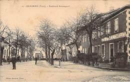 81 - Realmont - Boulevard Armengaud (café Hotel Combelles) - Realmont