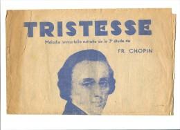 Tristesse De F.Chopin - Partitions Musicales Anciennes
