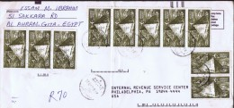 Letter For The USA  Spectacular Franking: 20 Stamps - Airmail