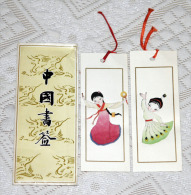 X 2 Marque Page Bookmark From China Chine : Handmade Young Chinese  Jeune Chinoise  Folklore - Marque-Pages