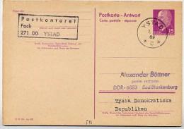 DDR P74 A Antwort-Postkarte YSTAD Schweden 1969 - Otros