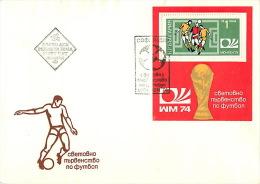BULGARIA 1972. (2323-2331 47 A). The FIFA World Cup MUNICH-74 (3 Envelopes) - Coppa Del Mondo