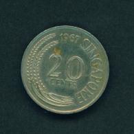SINGAPORE - 1967 20c Circ - Singapore