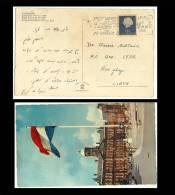 Netherlands Nice Picture Post Card Slogan Postmark Used With Stamp Postcard  Netherlands To Libya - Poststempel