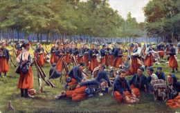 ZOUAVES  à La Grande Halte-Très Animée-couleur - Regiments