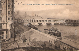 Bords De Seine Viaduc D'auteuil Vu De Billancourt - France