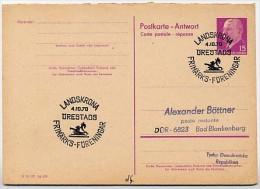 Sost. BRIEFMARKENVEREIN LANDSKRONA Schweden 1970  DDR P74 A Antwort-Postkarte - Filatelie & Munten