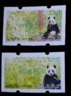 2010 Giant Panda Bear ATM Frama Stamps-- NT$5 Green Imprint- Bamboo Bears WWF - Other