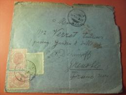 Rare Courrier De  Roumanie Pour Grenoble  1906 - Roumanie