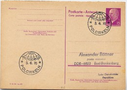 ARCTIC CIRCLE  Sweden 1970  On East German Postal Card P 74 A - Geographie