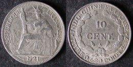 INDOCHINE  10 Cent 1921  INDOCINA  INDOCHINA  PORT OFFERT - Viêt-Nam