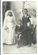 CPA  Photographique -TROIS ENFANTS, UNE COMMUNIANTE, UN COMMUNIANT(?), UN PETIT GARCON EN COSTUME MARIN - Photographie