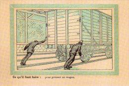 Unique Carte Thème Train Chemin De Fer Ce Qu´il Faut Faire Pour Un Agent De La SNCF Pour La Sécurité - Ferrovie