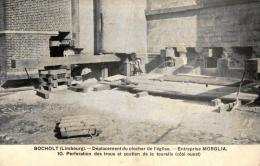BELGIQUE - LIMBOURG - BOCHOLT - Déplacement Du Clocher De L'Eglise. Entreprise MORGLIA. - Bocholt