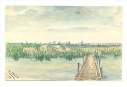 Carte Postale Peinte - Véritable Aquarelle De C. Dillen - Guerre 14/18  -RAMSKAPELLE (Y273)hel - Guerra 1914-18