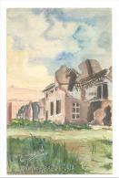 Carte Postale Peinte - Véritable Aquarelle De C. Dillen - Guerre 14/18  -RAMSKAPELLE (Y274)hel - Guerra 1914-18