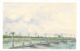 Carte Postale Peinte - Véritable Aquarelle De C. Dillen - Guerre 14/18  -RAMSKAPELLE (Y275)hel - Guerra 1914-18
