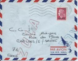 Lettre  De La Réunion Affranchie  Du Timbre Avec Surcharge 20F CFA - 1961-....