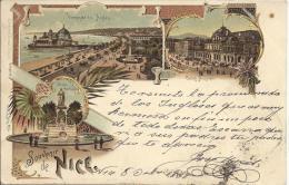 7177 - Souvenir De Nice En 1898 Litho - Nice