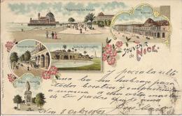 7178 - Souvenir De Nice En 1898 Litho - Multi-vues, Vues Panoramiques