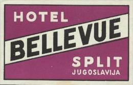Etiquette De Bagage - Hotel Bellevue - Split (ex-Yougoslavie) - Hotel Labels