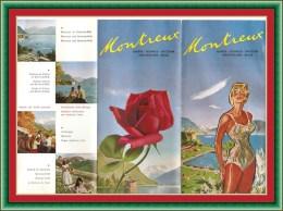 Publicité De MONTREUX EN SUISSE De 1961 - Cartes