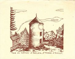 IMAGES  , 14 , PONT D'OUILLY , SAINT-MARDS-d´OUILLY , Tour Du Château D´Arclais - Vieux Papiers