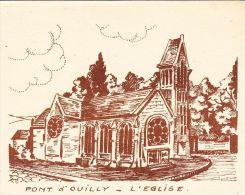 IMAGES  , 14 , PONT D´OUILLY , L'Église - Vieux Papiers