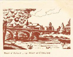 IMAGES  , 14 , PONT D´OUILLY , Le Pont Et L´Église - Vieux Papiers