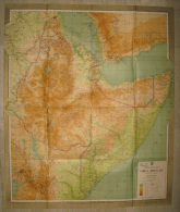 MAPPA CARTOGRAFIA GEOGRAFICA AFRICA OREINTALE COLONIE ITALIANE EDITA DA ACHILLE DARDANO - Carte Geographique
