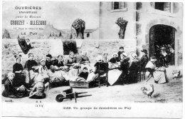 C P Ouvrières Travaillant Pour La Maison Crouzet-Allezard, Le Puy, Dentelières - Le Puy En Velay