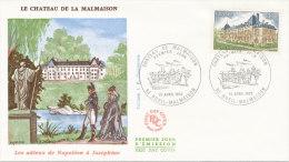 F.D.C. CHATEAU DE LA MALMAISON (Oblit.RUEIL MALMAISON Du 10.4.1976) - FDC