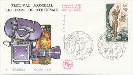 F.D.C.FESTIVAL MONDIAL DU FILM DE TOURISME (Oblit.TARBES Du 2.10.1976) - FDC