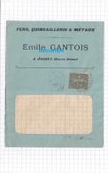 - 1917 - Cachet Postal De JUSSEY ( Haute Saone ) - Maison Emile GANTOIS - Fers Quincaillerie & Métaux - Postmark Collection (Covers)