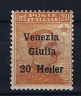 Italy: Venezia Giulia  Sa 31 MH/*,   Error Heiler Instead Of Heller - Venezia Giulia