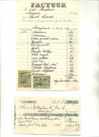 LOVENJOUL-LOVENJOEL-BIERBEEK-EMIEL STROOBANTS-FACTUUR VAN 1928-EN EEN RECU VAN 1945-PRACHTIGE TIJDSDOCUMENTEN-ZIE 2SCANS - Belgium