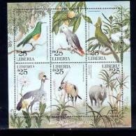 LIBERIA   2267 M  MINT NEVER HINGED MINI SHEET OF WILDLIFE & ANIMALS   (  0349 - Postzegels